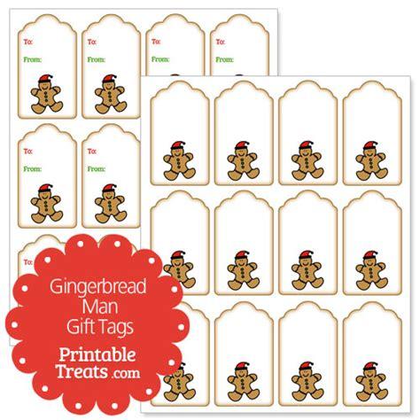 free printable gingerbread man labels gingerbread man gift tags printable treats com