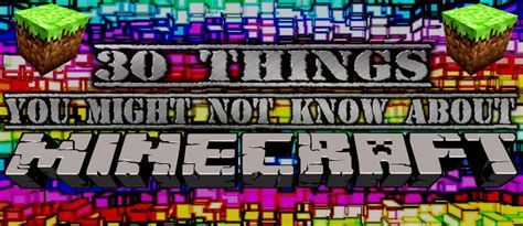 Minecraft 10 Things You Might Not Know About Minecraft - 30 things you might not know about minecraft minecraft blog