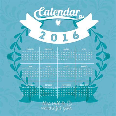design wall calendar 2016 simple wall calendar 2016 design vectors set 14 vector