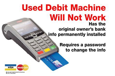 atm card machine bought used debit machine does not work kijji