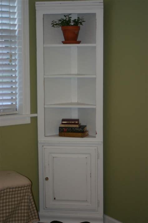 charming creations white distressed corner shelf cabinet