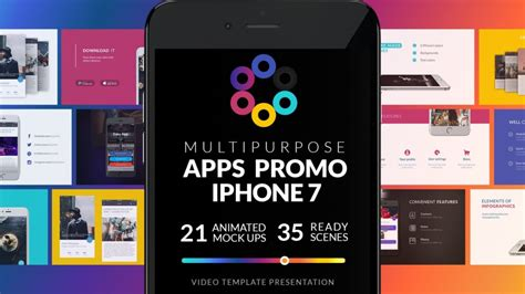 Multipurpose Apps Promo For Iphone 7 Easyedit Motion Design Studio App Promo Template