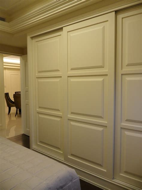 Closet Door Sliding Hardware Sliding Closet Door Bedroom With Armchair Bed Skirt Beige Beeyoutifullife