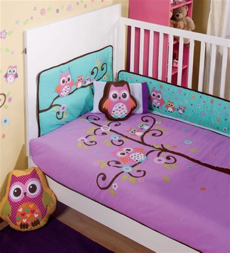 Nw Baby Girls Purple Violet Aqua Baby Owl Crib Sheets Purple Owl Crib Bedding