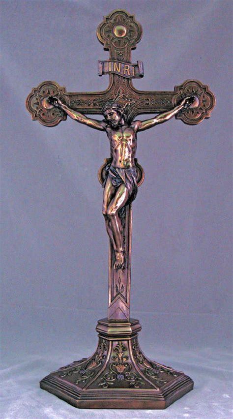 large standing crucifix large standing altar crucifix ornate jesus cross church