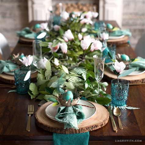 how to prepare a botanical easter brunch table setting