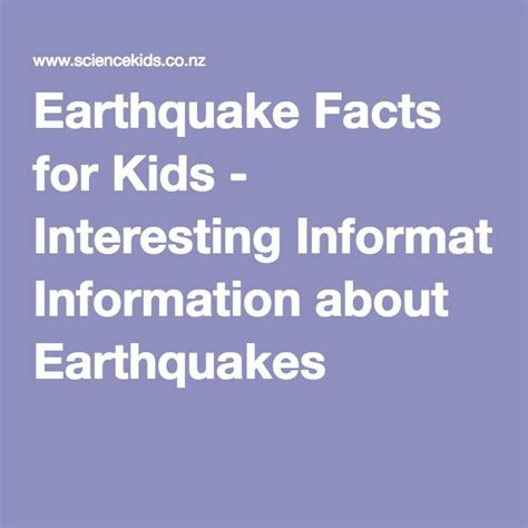 earthquake information the 25 best earthquake facts ideas on pinterest