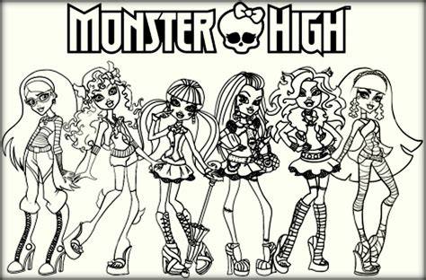 monster high coloring pages pdf monster high colouring pages pdf the color panda