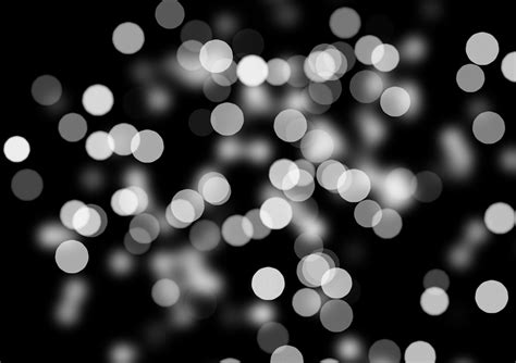 free illustration bokeh out of focus black white