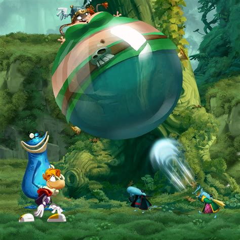 Knkl Tees blimpy barbs rayman legends sprite sheets by