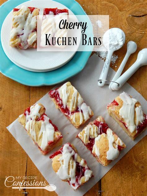 cherry kuchen bars my recipe confessions