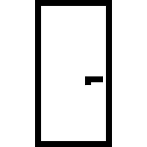 Door Symbol by Door Simple Rectangular Shape Outlined Construction Part