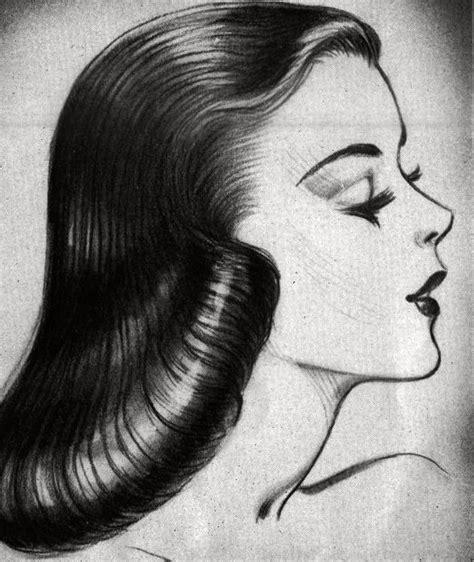drawings of 1950 boy s hairstyles 1940s pageboy hairstyles deborah burrows