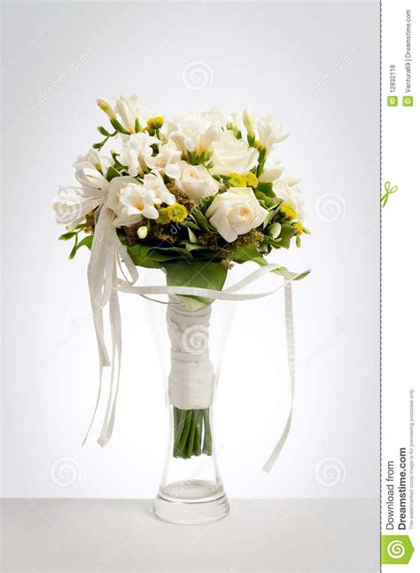 Bridal Bouquet Vase wedding bouquet in vase royalty free stock photos image 12832118