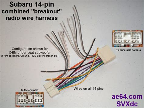 Ae64 Com Subaru Radio Wiring Harnesses Products Prices