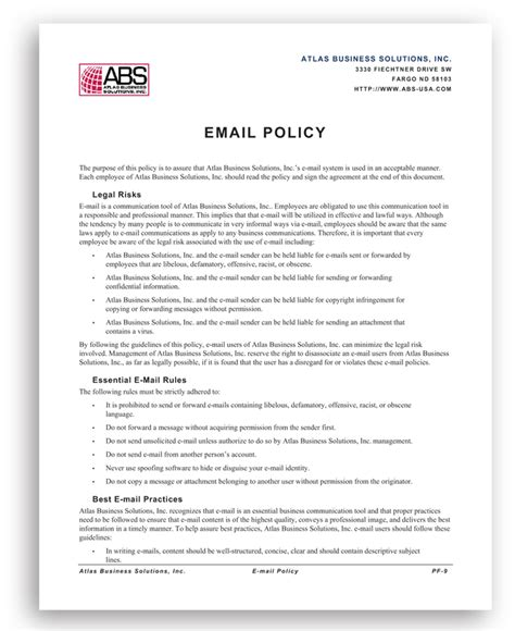 company safety policy template employee policies