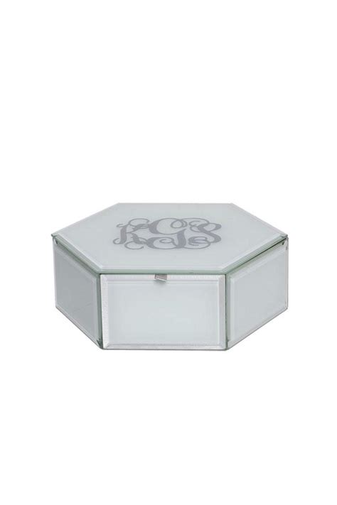 swing design jewelry box swing design monogrammed glass jewelry box from old