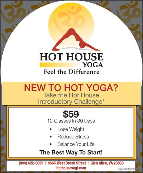 hot house yoga style weekly ad index week of jan 23 2013 style weekly richmond va local news