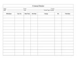 Printable Criminal Docket Legal Pleading Template