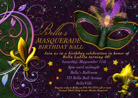 Free Mardi Gras Invitation Templates luella january has come and