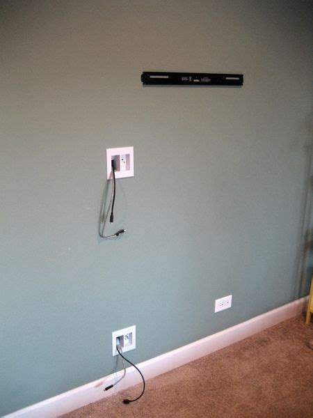 Fiscally Chic: Hiding TV Cords and Cables // off center