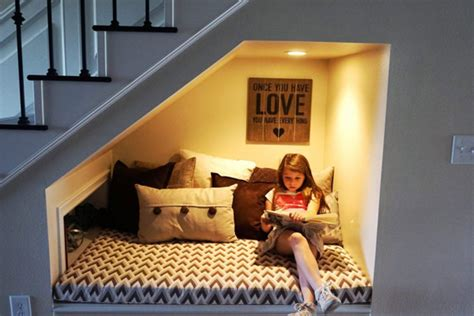 sofa under stairs 20 cozy diy reading nooks for kids home design and interior