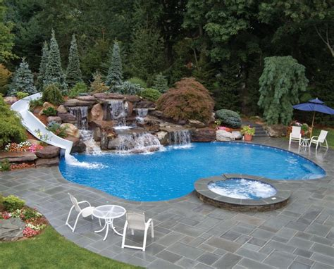 inground pools with waterfalls 30 best inground swimming pools for stunning ideas home