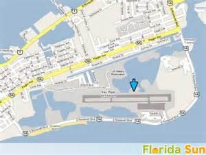 map florida airports key west international airport rental car map