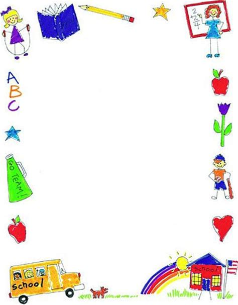 Page borders, Clip art and Schools on Pinterest