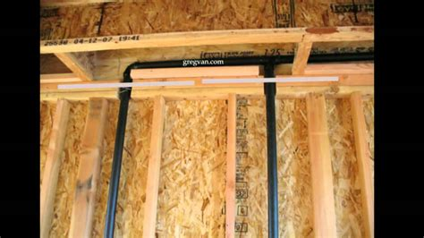 Top Out Plumbing by Pipe Notches And Top Plate Straps Plumbing And Framing