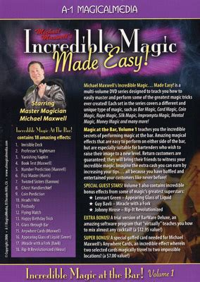 Alat Sulap Amazing Number Prediction magic at the bar volume 1 by michael maxwell