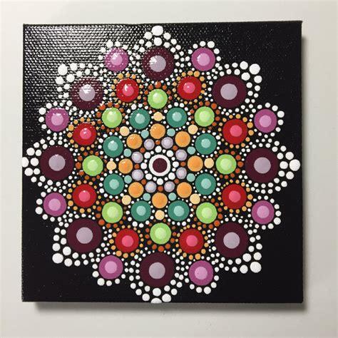dot pattern mandala hand painted mandala on canvas meditation dot art