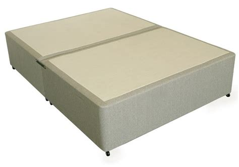 king bed base only deluxe 6ft king size divan bed base only in beige damask fabric