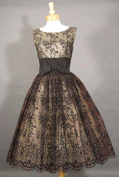 50 s cocktail dress vintage 1950 s flocked chiffon cocktail dress vintage vault