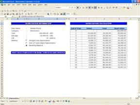 Line Depreciation Template by Depreciation Calculator Excel Templates