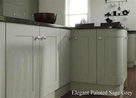 Light Grey Painted Kitchen Cabinets by Painted Kitchens Light Grey