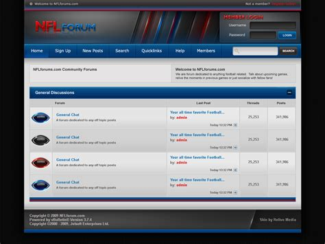 forum templates free nflforum forum template v1 by axertion on deviantart