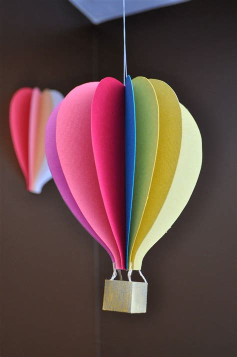 tutorial origami balloon papercraft hot air balloon mobile tutorial papercraft