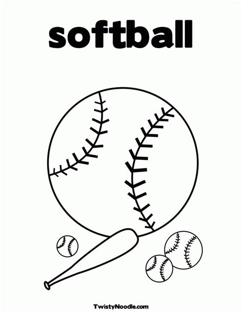 softball coloring pages free printable softball coloring pages coloring home