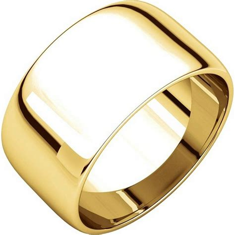 Eheringe 10mm Breit by 11683110e 18k Gold Plain Wedding Bands