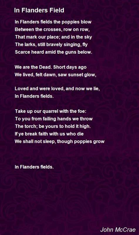 testo e traduzione count on me in flanders field poem by mccrae poem