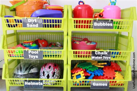 Garage Toy Storage | organizing concepts for kids garage toys free printable