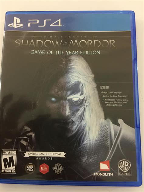 Kaset Gameps4 Middle Earth Shadow Of Mordor Goty Reg 2 ps4 middle earth shadow of mordor ga end 11 1 2017 8 15 am
