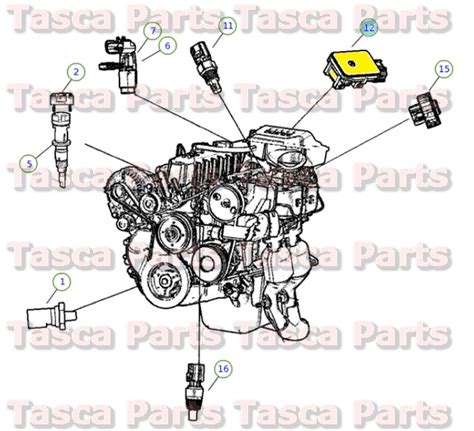 Tasca Jeep New Oem Map Sensor Jeep 2003 2004 Wrangler 2004 Grand
