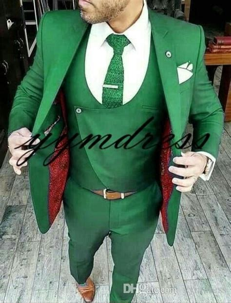 New Design Green Groom Tuxedos 2019 Best Man Suit Mens