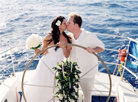 Wedding On A Boat by Hawaii Destination Wedding On A Boat The