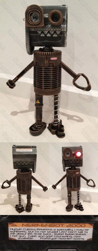 nerfenbot 2000 nerf steunk robot from scraps