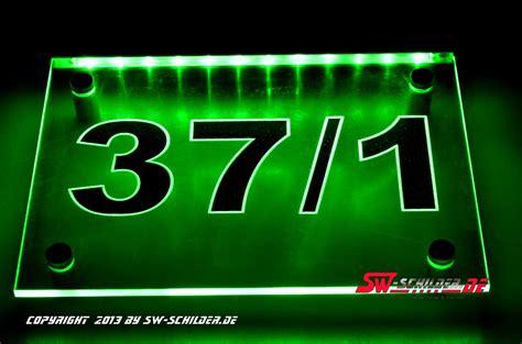 hausnummer mit beleuchtung hausnummer typ3 mit led beleuchtung und gravur