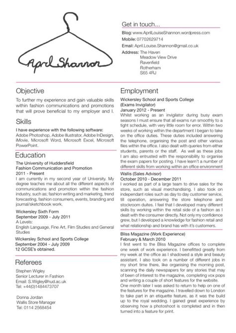 resume templates for a buyer junior fashion buyer resume skills google search