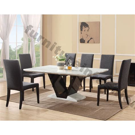 midas gloss black marble dining table 8 midas chairs